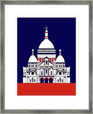 Sacra Coeur Montmartre Framed Print by Asbjorn Lonvig