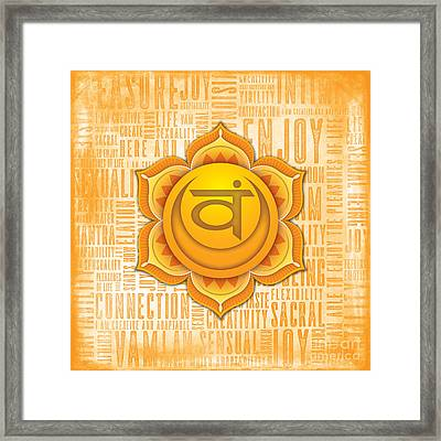 Sacral Chakra - Awareness Framed Print by David Weingaertner