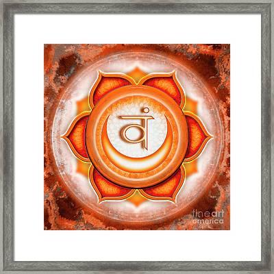 Sacral Chakra - Series 5 Framed Print by Dirk Czarnota