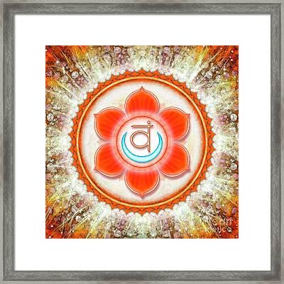 Sacral Chakra - Series 6 Framed Print by Dirk Czarnota