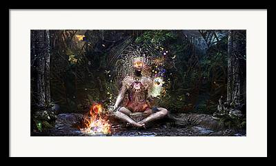 Thai Digital Art Framed Prints