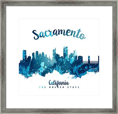 Sacramento California 27 Framed Print by Aged Pixel
