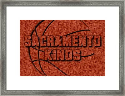 Sacramento Kings Leather Art Framed Print