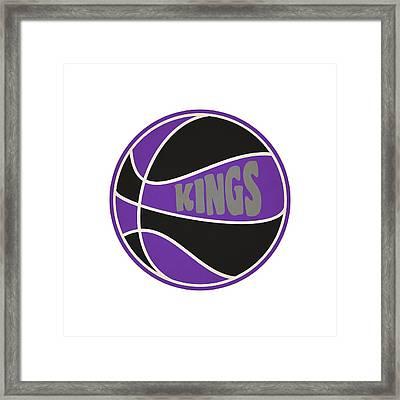 Sacramento Kings Retro Shirt Framed Print by Joe Hamilton