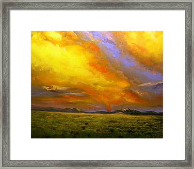 Sacramento Mountain Sunrise Framed Print by Connie Tom