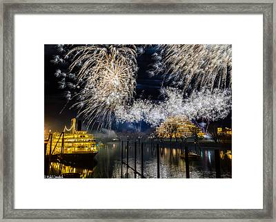 Sacramento New Years Eve Framed Print by Mike Ronnebeck