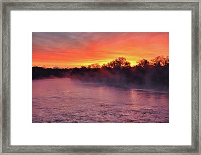 Sacramento River Sunrise Framed Print