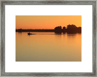 Sacramento River Sunrise Framed Print by Troy Montemayor