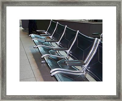 Framed Print featuring the photograph Sacramento Seating by Barbara MacPhail