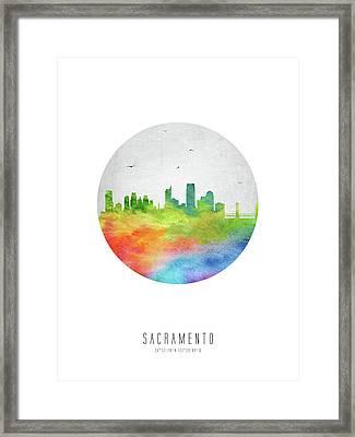 Sacramento Skyline Uscasa20 Framed Print