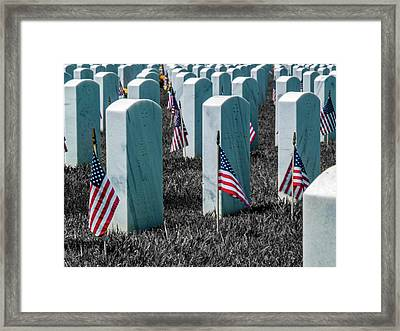 Sacramento Valley Veterans Cemetary Framed Print by Bill Gallagher