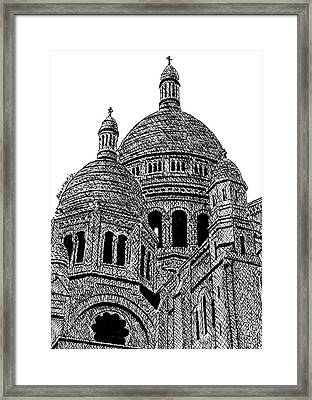 Sacre Coeur Basilica Paris Framed Print by Brian Keating