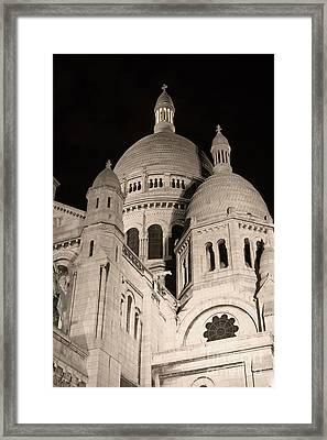 Sacre Coeur By Night IIi Framed Print