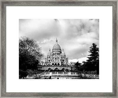 Sacre Coeur In Paris Framed Print