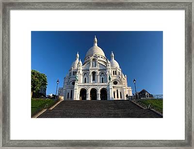 Sacre Coeur Montmartre Paris Framed Print by Pierre Leclerc Photography