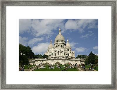 Sacre Coeur  Paris France Framed Print by Matthew Kennedy