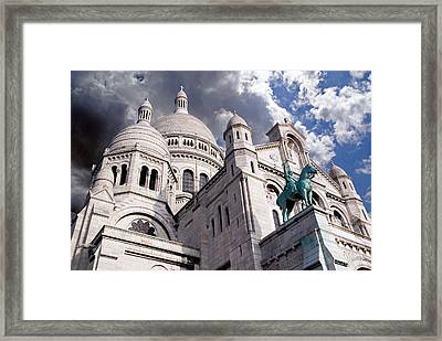Framed Print featuring the photograph Sacre-coeur by Rod Jones