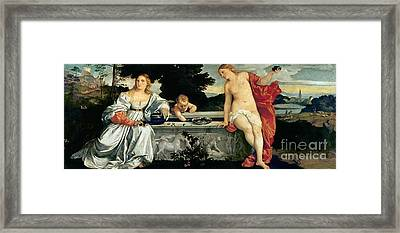Sacred And Profane Love Framed Print