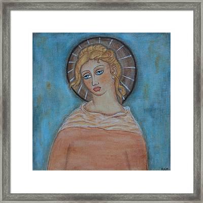 Sacred Angel Framed Print by Rain Ririn