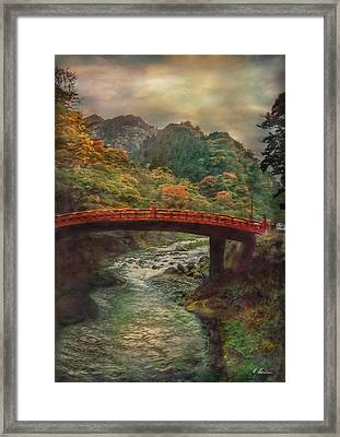 Framed Print featuring the photograph Sacred Bridge by Hanny Heim