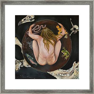 Framed Print featuring the painting Sacred Circle 3 by Sheri Howe