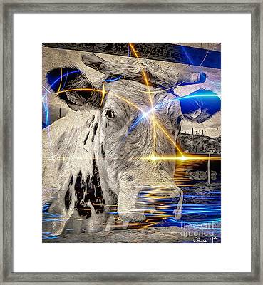 Sacred Cow Framed Print by Eleni Mac Synodinos