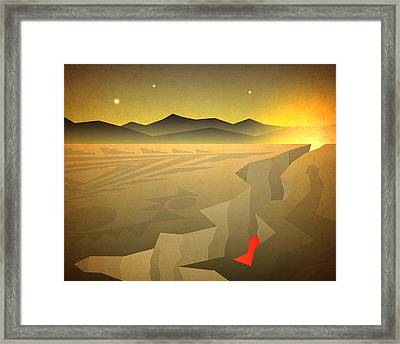 Sacred Desert Vista Framed Print by Milton Thompson