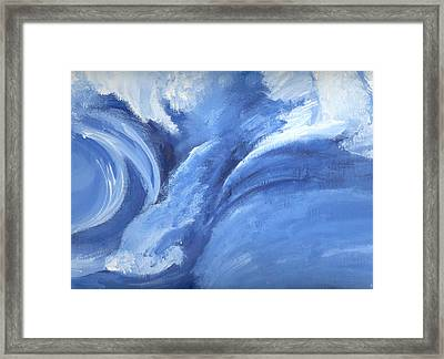 Framed Print featuring the painting Sacred Emotions by Saad Hasnain