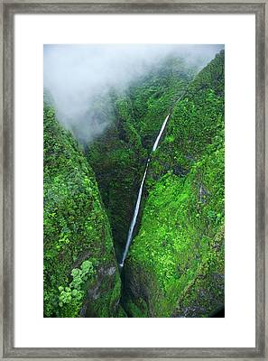 Sacred Falls - Oahu Framed Print by Sean Davey