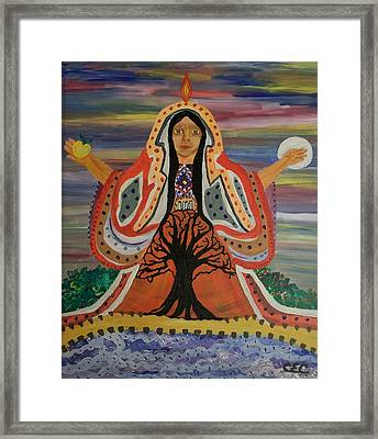 Framed Print featuring the painting Sacred Feminine by Carolyn Cable