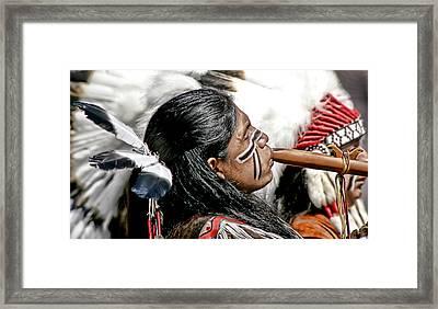 Sacred Flute Framed Print by Donovan Torres