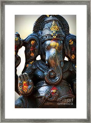 Sacred Ganesha Framed Print by Tim Gainey