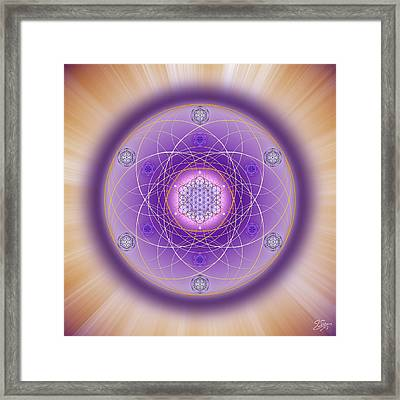 Framed Print featuring the digital art Sacred Geometry 704 by Endre Balogh