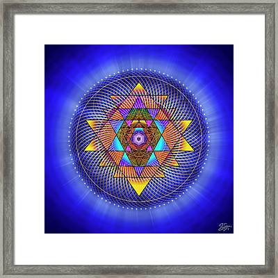 Framed Print featuring the digital art Sacred Geometry 705 by Endre Balogh
