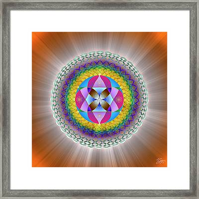 Framed Print featuring the digital art Sacred Geometry 706 by Endre Balogh