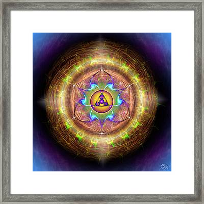 Framed Print featuring the digital art Sacred Geometry 707 by Endre Balogh