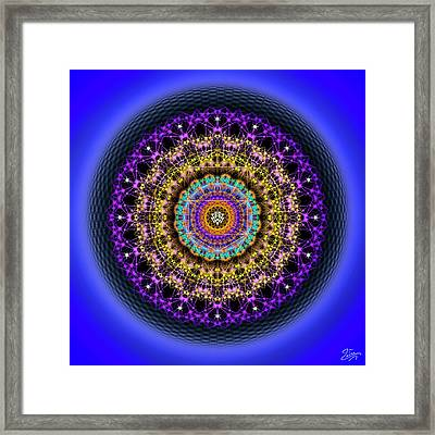 Framed Print featuring the digital art Sacred Geometry 708 by Endre Balogh