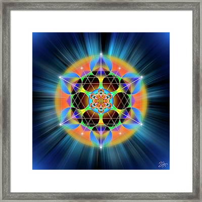 Framed Print featuring the digital art Sacred Geometry 709 by Endre Balogh