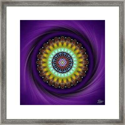 Framed Print featuring the digital art Sacred Geometry 710 by Endre Balogh
