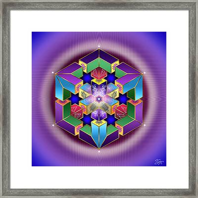 Framed Print featuring the digital art Sacred Geometry 711 by Endre Balogh