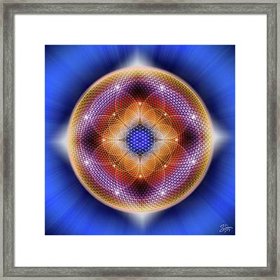 Framed Print featuring the digital art Sacred Geometry 712 by Endre Balogh