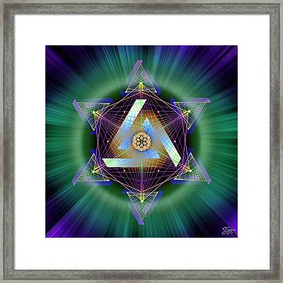 Framed Print featuring the digital art Sacred Geometry 713 by Endre Balogh