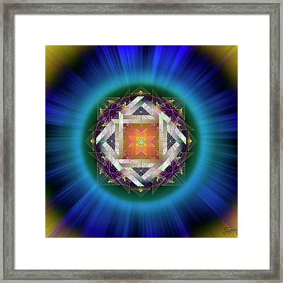 Framed Print featuring the digital art Sacred Geometry 714 by Endre Balogh