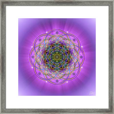 Framed Print featuring the digital art Sacred Geometry 715 by Endre Balogh