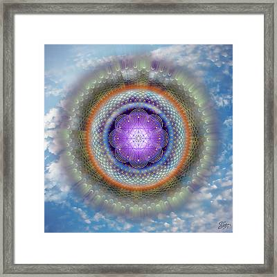 Framed Print featuring the digital art Sacred Geometry 716 by Endre Balogh