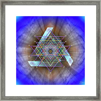 Framed Print featuring the digital art Sacred Geometry 717 by Endre Balogh