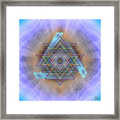 Framed Print featuring the digital art Sacred Geometry 717 Version 2 by Endre Balogh
