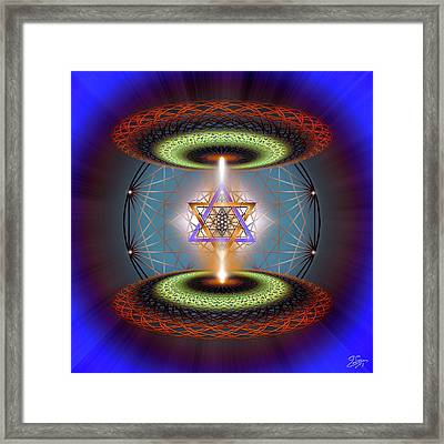 Framed Print featuring the digital art Sacred Geometry 718 by Endre Balogh
