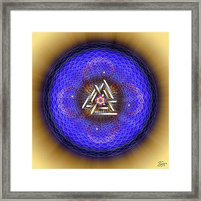 Framed Print featuring the digital art Sacred Geometry 719 by Endre Balogh