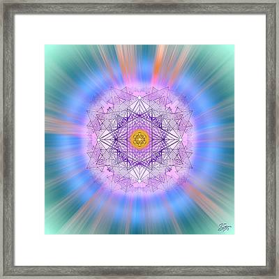 Framed Print featuring the digital art Sacred Geometry 720 by Endre Balogh